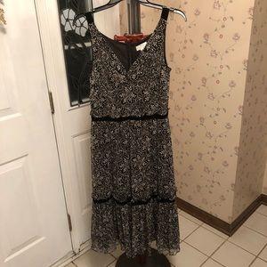 Ann Taylor black and white maxi dress